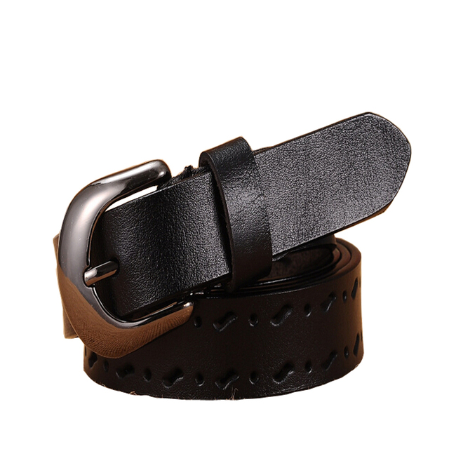 Leather Belt Woman Real spit Leather Cowskin Belts Female Pin Buckle Vintage Jeans Dress Waistband Girdle Sash fashion belts