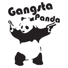 CS-1305#15*18.5cm Gangsta Panda v2 funny car sticker vinyl decal silver/black for auto stickers styling