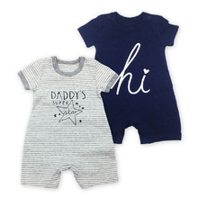 New Style Baby Birl Boy Romper Smile Printing Summer Girl Clothes Cotton Short Sleeve Infant Toddlers Jumpsuit Kids Clothing