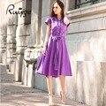 2017 RUIYIGE Новое Прибытие Винтаж Плюс Размер Многоцветный Элегантный Формальные Дамы Офис Вечер Туника Dress vestidos С Поясом