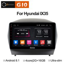 Quad 4 Lõi 2 gb RAM + 16 gb ROM 10.1 inch Android 8.1 Car DVD Player Cho Hyundai IX35 tucson 2010-2015 GPS Đài Phát Thanh Stereo WIFI TPMS(China)