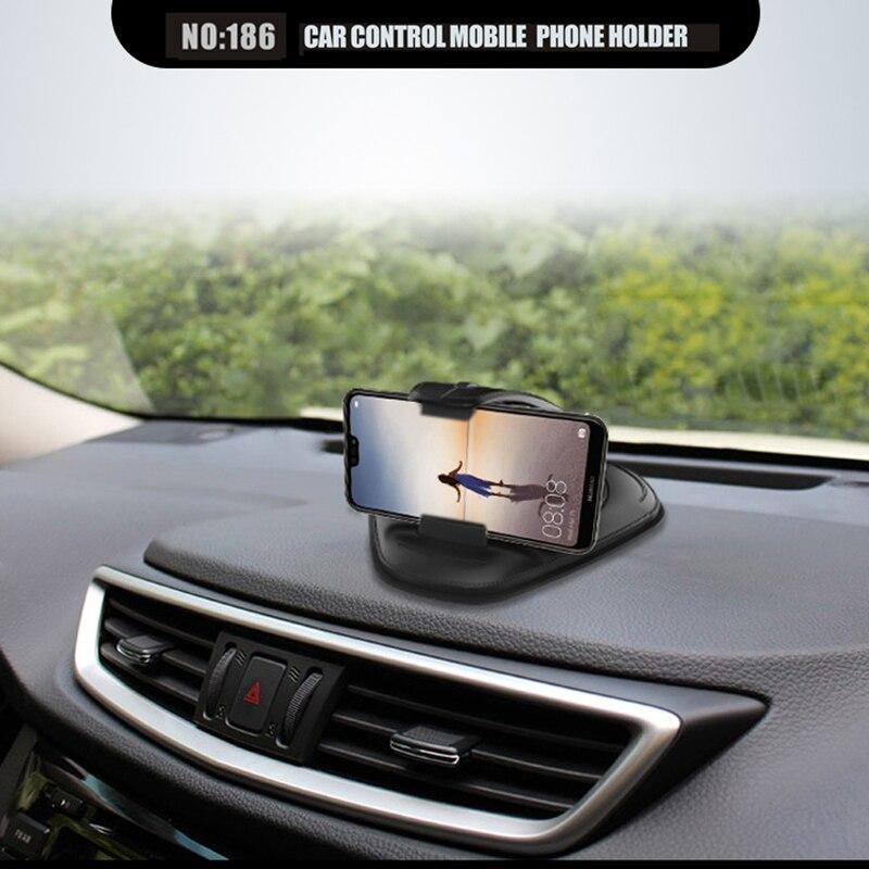Car Console Phone Navigation Bracket Dash Board Non-slip Mat Universal Cellphone Silicone PU Creative Phone Holder Car Bracket