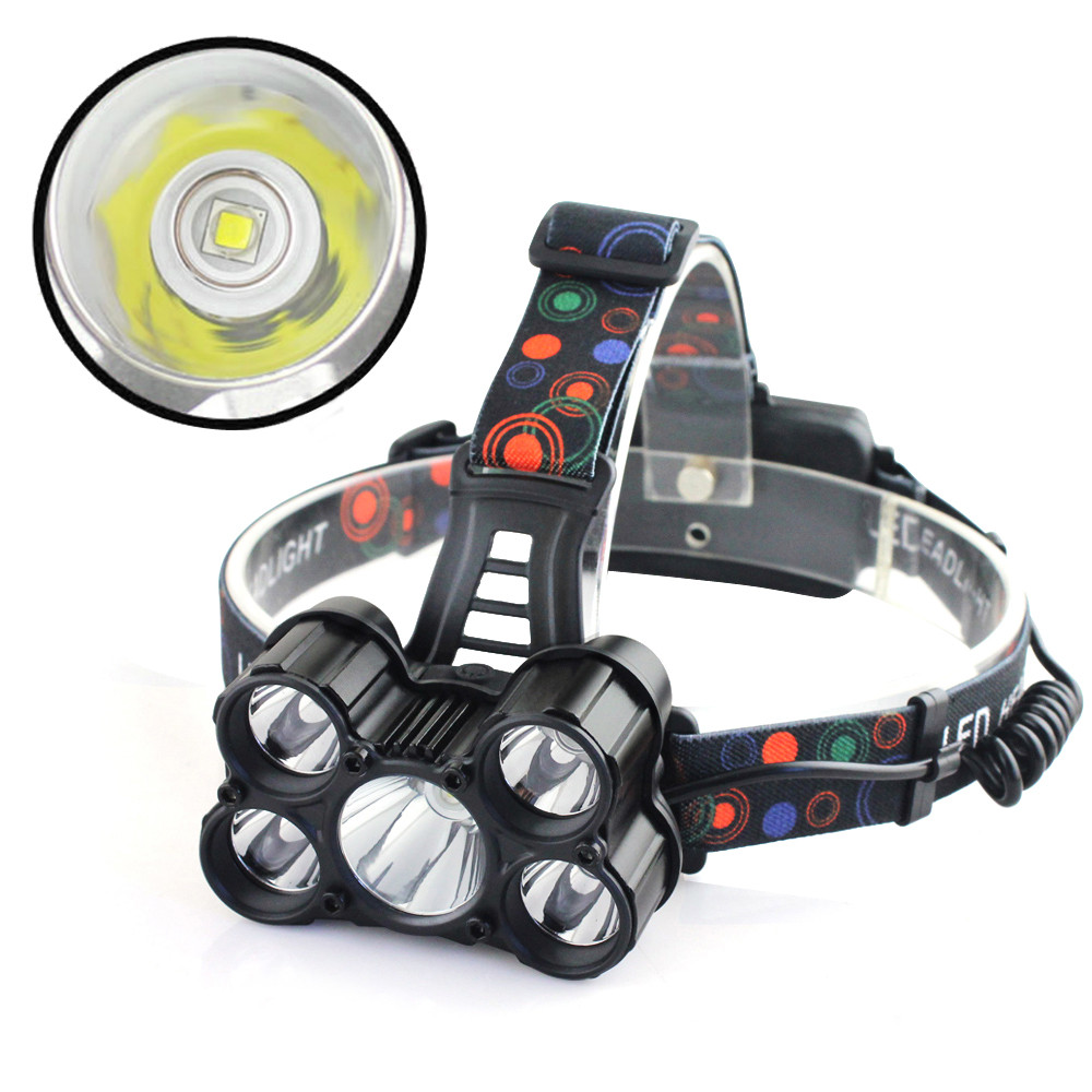 Bicycle Accessories Bike Flashlight Headlamp 30000LM 6 Modes 5x XM-L T6 LED Rechargeable 18650 Headlamp Head Light Torch 950lm 3 mode white bicycle headlamp w cree xm l t6 black silver 2 x 18650