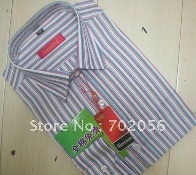 Stripe Cotton Men's dress Shirt,Business shirts 5pcs/lot #2329