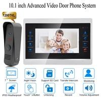 10 Inch Wired Door Phone Home Intercom Video Doorbell Monitor Intercom With 1 Camera 1200TVL High