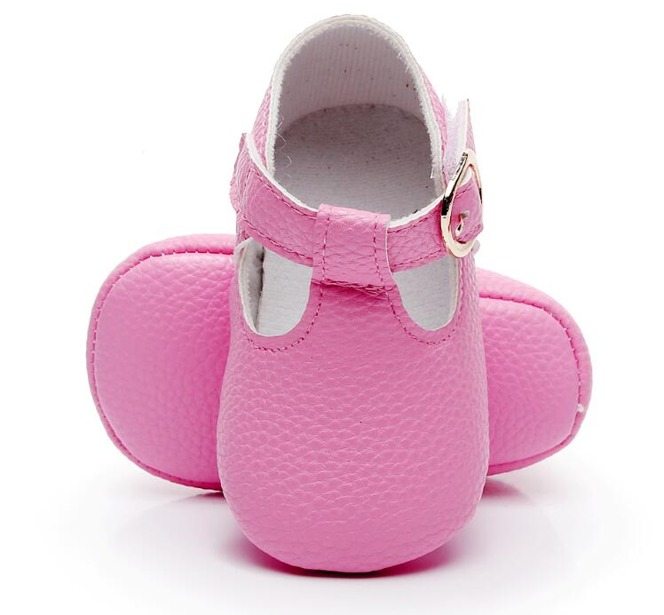 HONGTEYA Newborn Baby Mary Jane Shoes PU Leather Baby Girl Shoes Soft Sole First Walker Princess Ballet Shoes For 0-18M
