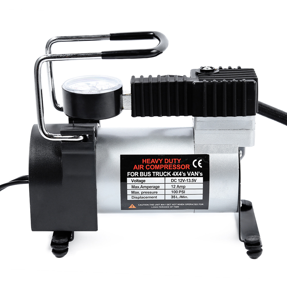 DC 12 V coche bomba para inflar con aire eléctrico solo cilindro neumático Auto compresor de aire con Monitor de presión de neumáticos