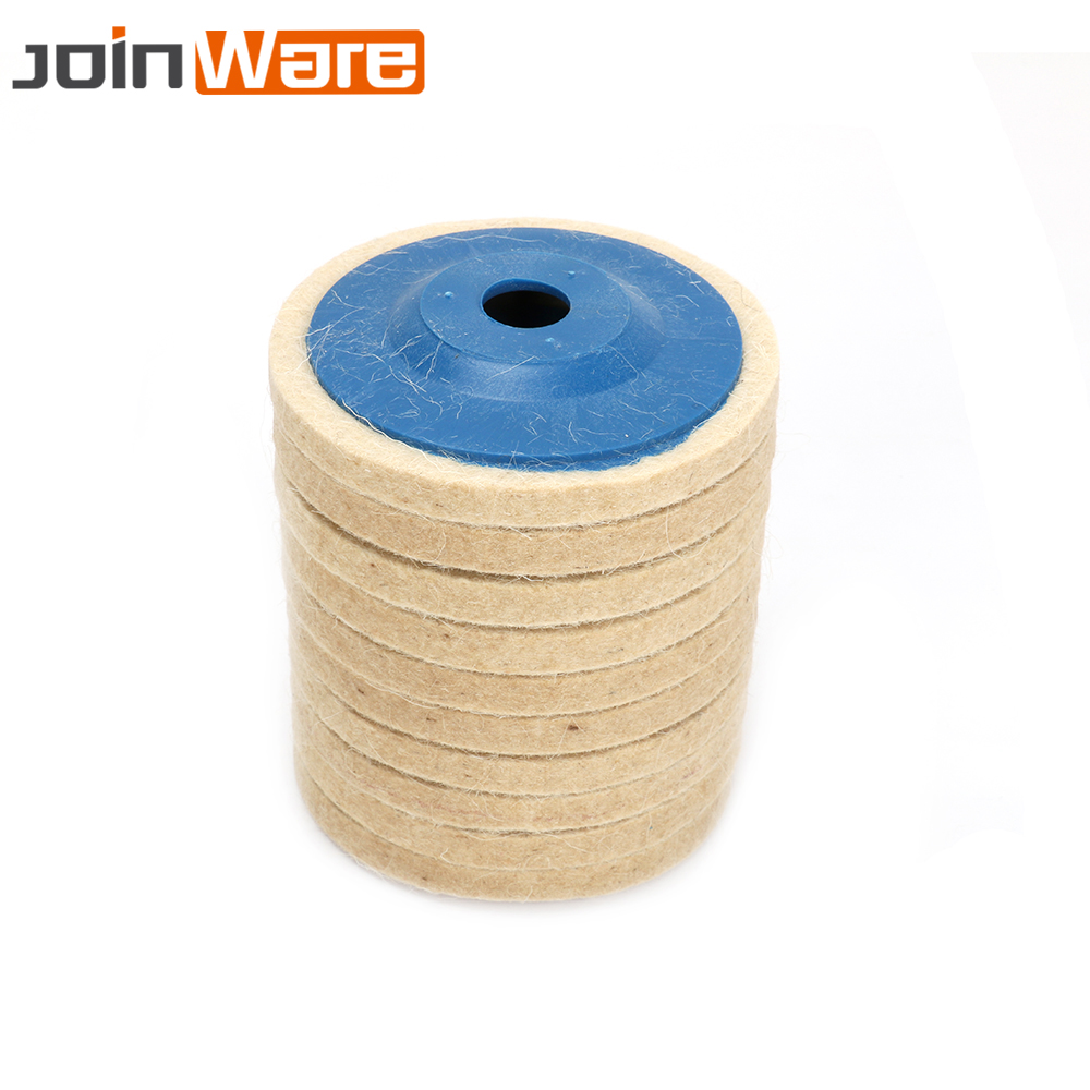 10Pcs 100MM Wool Polishing Pads Buffing Angle Grinder Wheel Felt Polishing Disc Pad Set For Angle Grinder Abrasive Rotary Tool