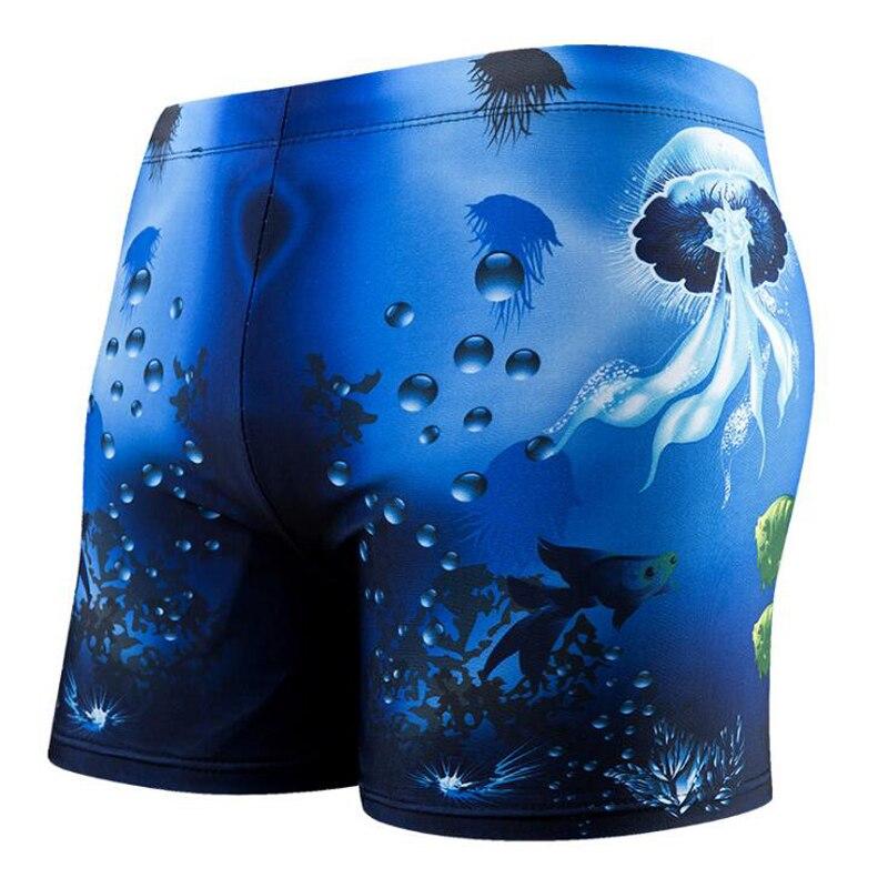 Men Swim Trunks Briefs Underwater World Jellyfish Fish Swimsuit Shorts Wear Swimwear Swimming Bathing Suit Maillot De Bain Mayo