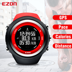 EZON T031 Mens Sports Watches Outdoor Running GPS Timing Casual Sports Watch Calories Counter Distance Digital Sport Wristwatch