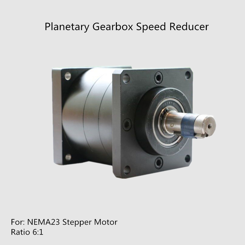 Longevity Low Noise Planetary Gearbox Speed Reducer for NEMA23 Stepper Motor Ratio 6:1 High Precision Stepper Motor Reducer cnbtr low speed electric geared motors dc12v 2 5rpm metal gearbox motor