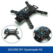 Nieuwste DIY Drone QAV250 Carbon Frame Flycolor Fairy 2204 2300KV borstelloze Motor 12A Esc CC3D Radiolink AT9 vs DJI Phantom 3
