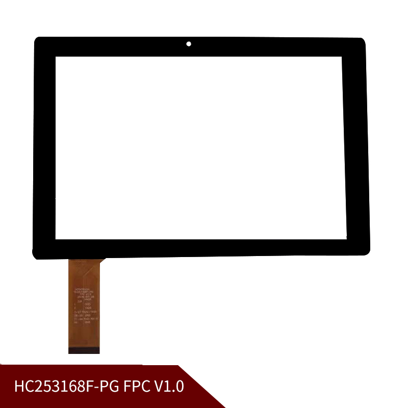 100% Original 10.1''inch Touch Screen Touch Digitizer Replacement Glass Panel HC253168F-PG FPC V1.0 Free Shipping