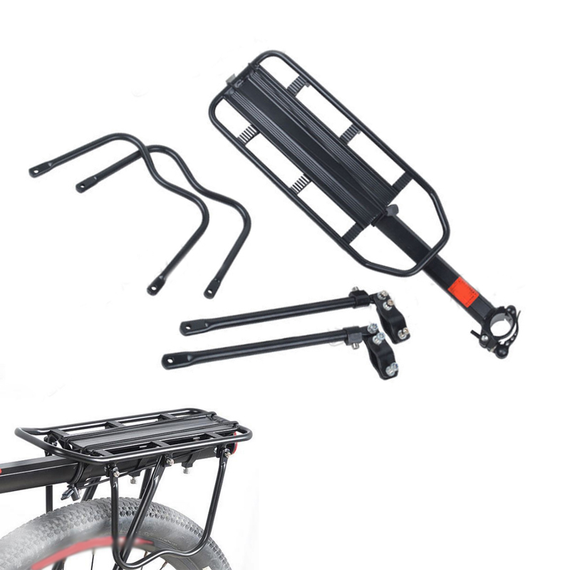 цена на Bicycle Frame Rack Mountain Bike Quick Detachable Rear Shelf Aluminum alloy Manned Shelves MTB Cycling Equipment Accessories