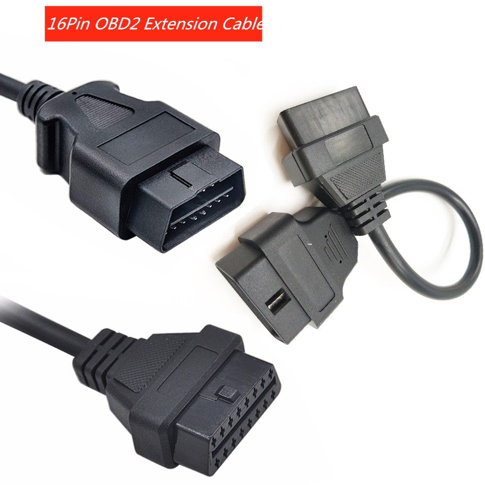 OBDII OBD2 16 Pin Male to DB 15 Pin Male Extension Extent Diagnostic Code Cable