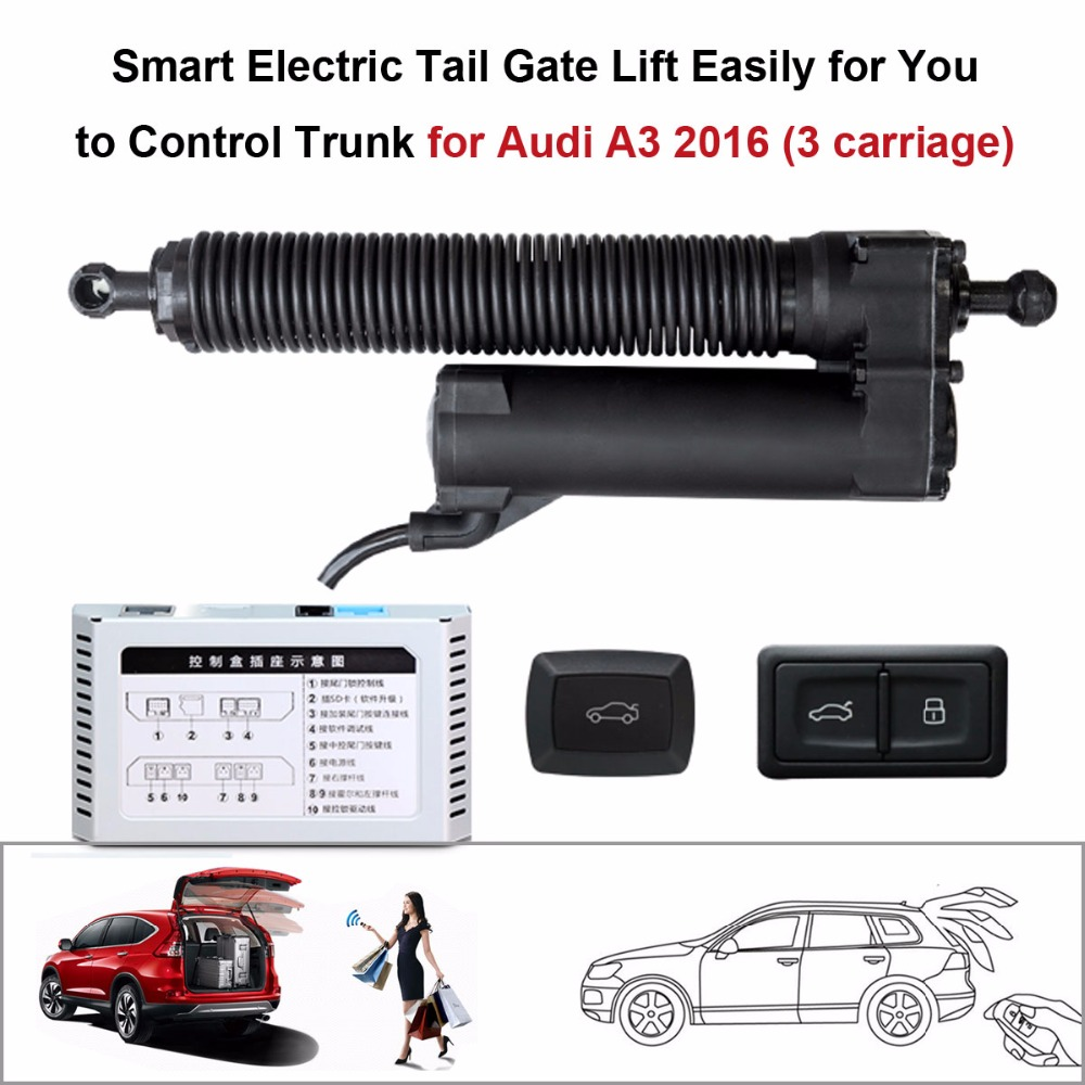 Smart Auto Electric Tail Gate Lift For Audi A3 2016 Control Set Height Avoid Pinch With Latch