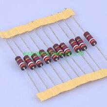 10pcs Carbon Composition vintage Resistor 0.5W 3.9K ohm 5 % цена