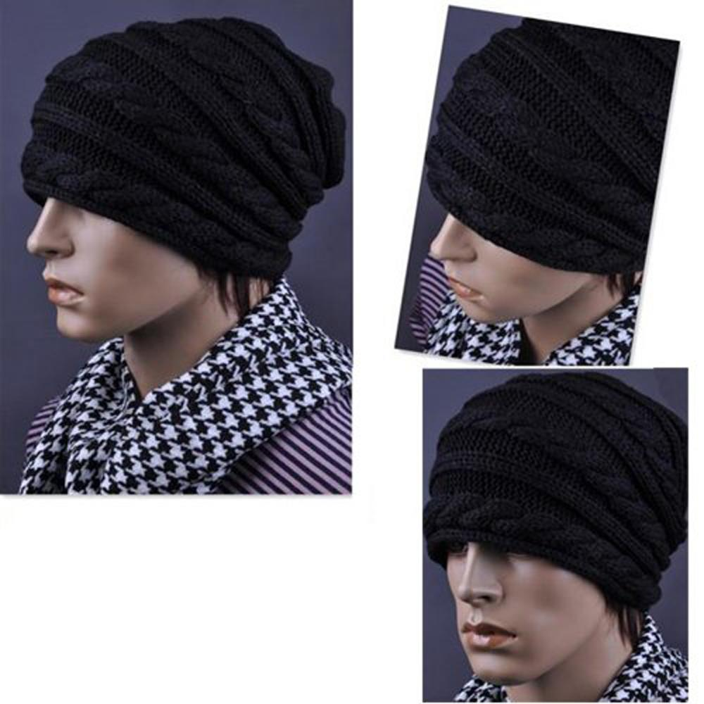 Winter Black Oversized Knit Baggy Beanie Slouch Hat Unisex Fashion Gift-in  Skullies   Beanies from Apparel Accessories on Aliexpress.com  7ef28b71c47