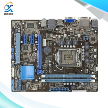 Для p8h61-m le оригинальный используется для рабочего материнская плата для intel h61 сокет uATX LGA 1155 Для i3 i5 i7 DDR3 16 Г На Продажу