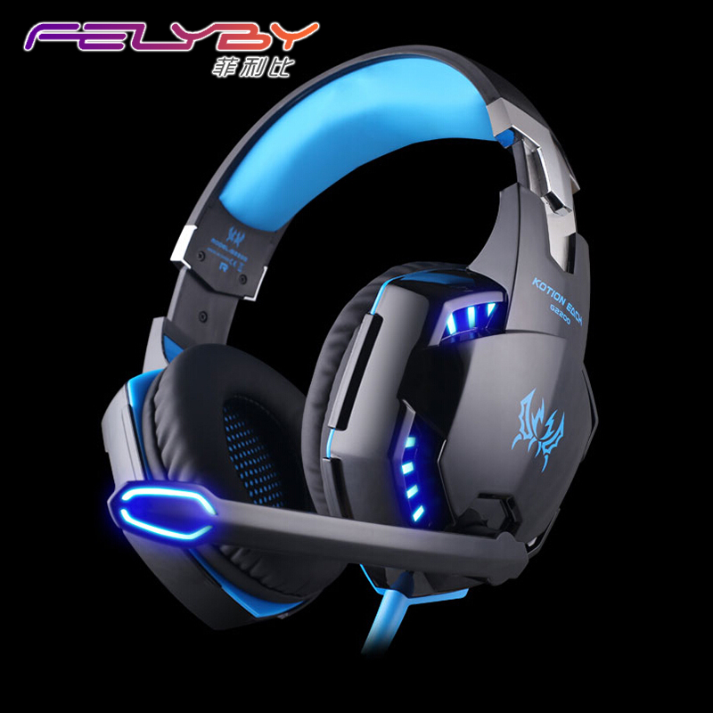 G-2200 USB 7.1 Surround Sound Vibration gaming headphones for PC Headset Earphones With Microphone glowing headphone LED Lights
