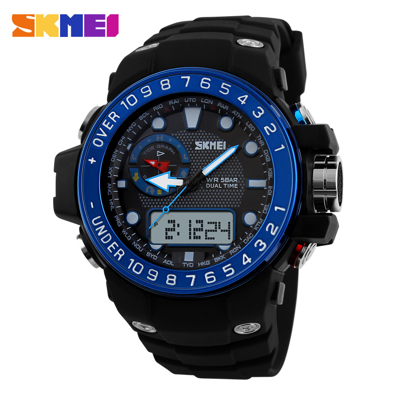 SKMEI font b Men b font Sports Watches Waterproof Fashion Casual Quartz Watch Digital Analog Military
