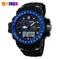 Skmei мужчины спортивные часы водонепроницаемые мода свободного покроя кварцевые часы цифровых и аналоговых военная многофункциональные мужские спортивные часы