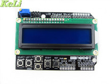 new 1pcs LCD Keypad Shield LCD1602 LCD 1602 Module Display For Ardu ATMEGA328 ATMEGA2560 raspberry pi UNO blue screen(China)