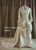 Custom Made IMPERIAL IVORY Victorian WEDDING GOWN Tea Party Dress Wedding Bridal Dress Event Dress