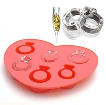 Novelty Silicone Ice Ring Maker Ice Cube Tray Chocolate Mould Kitchen Accessories Color Random ...