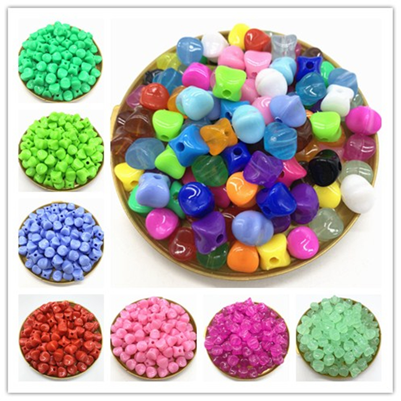 Wholesale 50pcs/lot 8mm Acrylic Beads Spacer Loose Beads For Jewelry Making DIY Bracelet Earring