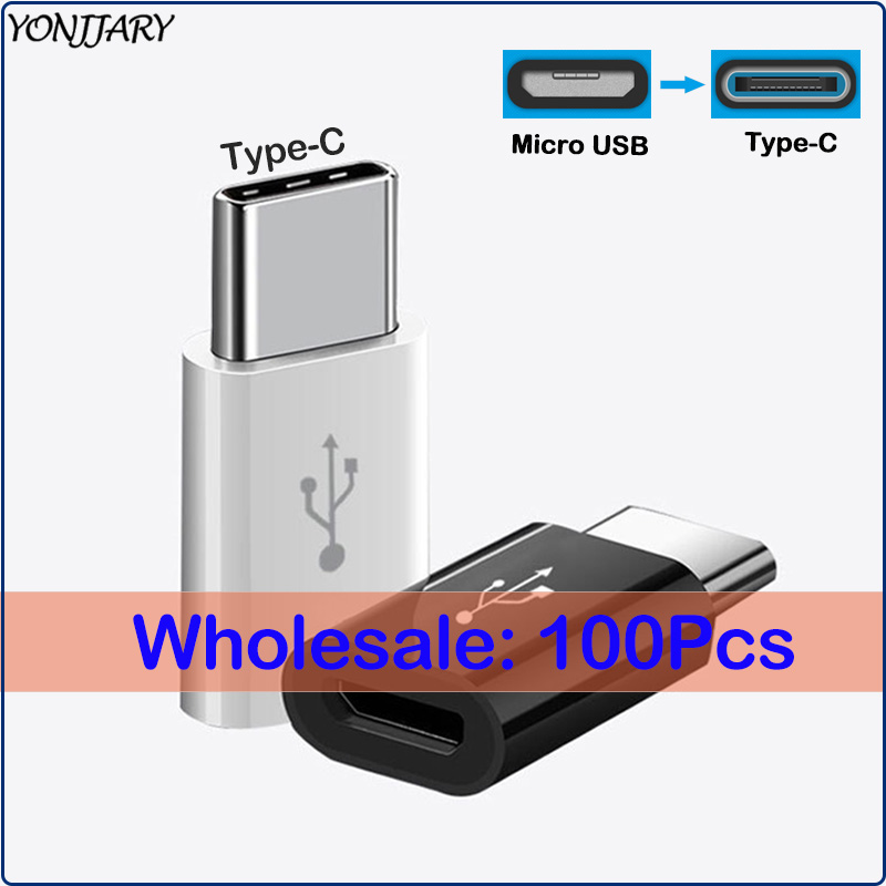 100Pcs Wholesale USB C Type-C To Micro USB Converter For Samsung S10 Xiaomi Mi9 USB OTG Adapter For Huawei Honor 20 P20 P30 Pro