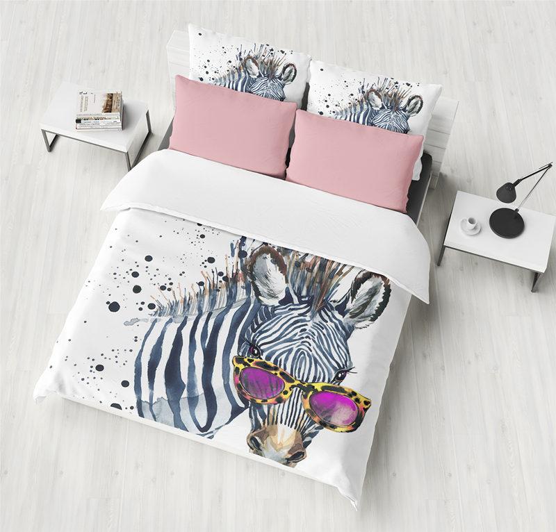 Color Zebra Bed Set King Comforter Bedding Sets Queen Size Duvet Cover Sets White Bed Linen sheetColor Zebra Bed Set King Comforter Bedding Sets Queen Size Duvet Cover Sets White Bed Linen sheet