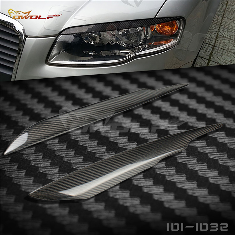 Fit for <font><b>Audi</b></font> <font><b>A4</b></font> <font><b>B7</b></font> carbon fiber lamp eyebrow headlight eyebrow image