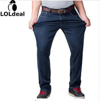 Mens Big And Tall High Stretch Plus Size 36 To 52 Jeans Denim Business Relax