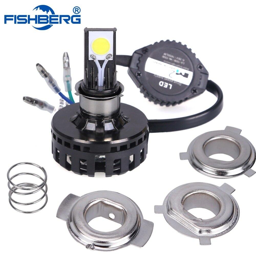 H4 15W LED Motorcycle Headlight Bulb 6000K 1650LM Hi Lo Beam 10W Low Beam Conversion Kit