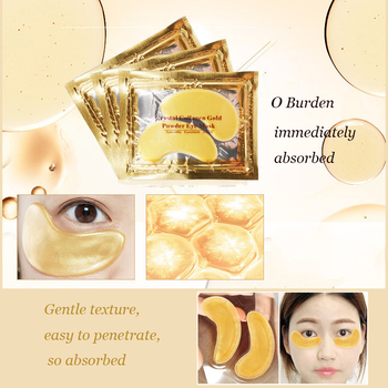 InniCare 20Pcs Crystal Collagen Gold Eye Mask Anti-Aging Dark Circles Acne Beauty Patches For Eye Skin Care Korean Cosmetics 8