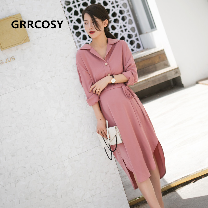 GRRCOSY Maternity Long Dress Pregnancy Full Sleeve Rayon Skirt Formal Fashion Dress For Pregnant Women With