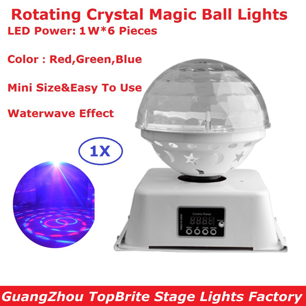 1Pcs/Lot Mini RGB 3IN1 LED Crystal Magic Ball Stage Effect Lighting Disco Lamp Party Nightclub DJ Bar Lights New Design rg mini 3 lens 24 patterns led laser projector stage lighting effect 3w blue for dj disco party club laser