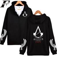2017 Assassins Creed Print Hoodie Cosplay Pullover Tracksuit Assassins Creed Zipper Hoodies Jacket Men Women Tumblr