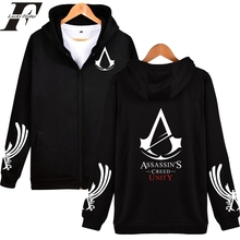 2017 Assassins Creed print Hoodie Cosplay pullover tracksuit Assassins Creed zipper Hoodies Jacket Men Women tumblr Sweatshirt