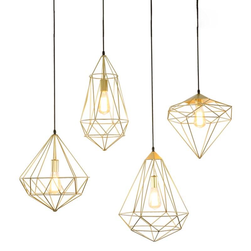 lampy złote maetlowe wiszące