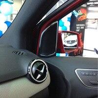 Chrome Door Speaker Frame Decoration Trim Sticker For Mercedes Benz B Class B200 B260 2012 2016 Car Accessories 2pcs