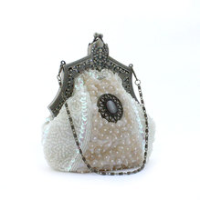 Beaded evening bag clutch bag ladies retro packet