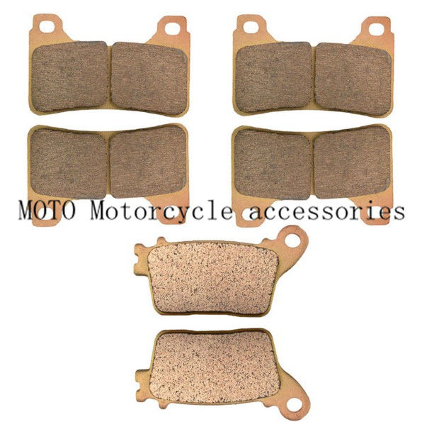 Motorcycle Front Brake Pads and Rear Brake Pads For Honda CBR1000RR CBR1000 RR 2004 2005 Motorcycle Brake Disc Pads 1 Set motorcycle front and rear brake pads for honda fmx650 5 6 2005 2008 black brakes pads
