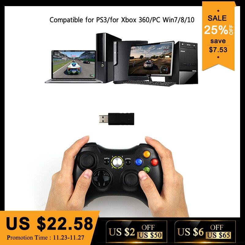 3 dans 1 2.4 ghz Bluetooth Sans Fil Contrôleur Pour Sony PS3 Pour Xbox 360 Console Jeu Joystick Controle Pour PC win7 Win8 Win10