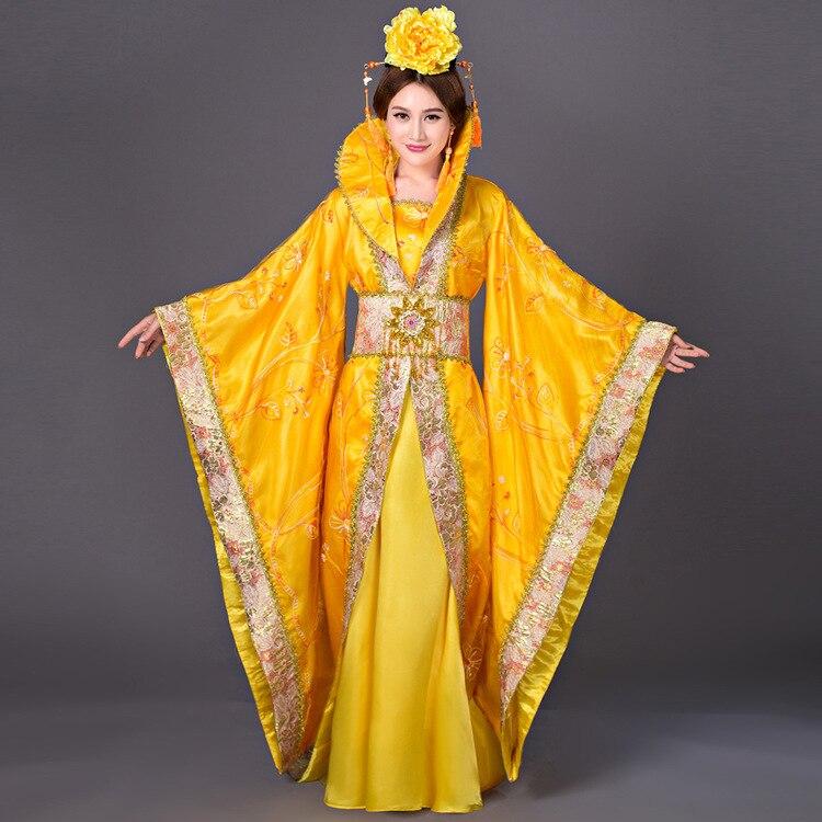 Chinois Han dynastie Court robe dramaturgique robe femmes antique Infanta Costume Peri théâtral Draggle-queue robe de haute qualité