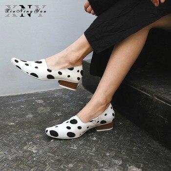 Women Pumps Soft Genuine Leather Women Med Heels Fashion Leisure Girls Dress Shoes Woman Horsehair Ladies Pumps White Black Gold