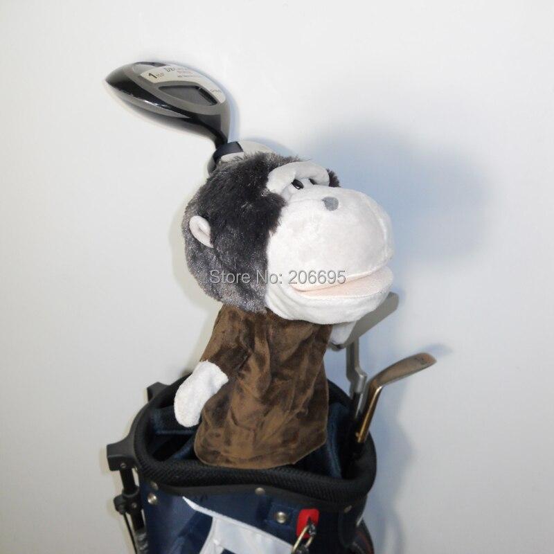 Golf headcover animales de madera de calle o híbrido golf club head, el Gorila