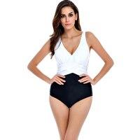 Plus Size One Piece Swimsuit Swimwear Women Push Up Monokini Pin Up Bodysuit Badpak Beachwear Retro