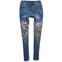Diamond Beaded Jeans